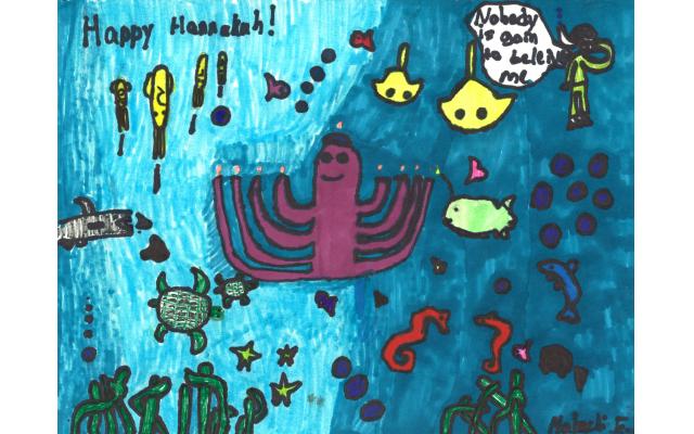Hannukah Under the Sea by Malachi Freedman from Chaya Mushka Children's House, Fourth Grade