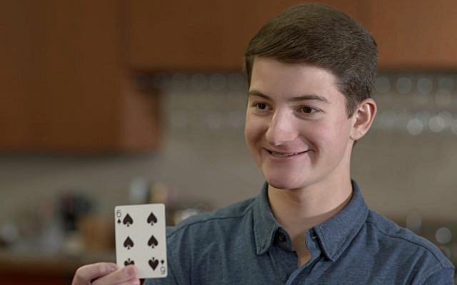 Magician and high school junior Ari Isenberg wants a career combining acting and filmmaking. He currently uses cards to entertain audiences.