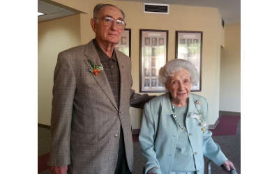 Frank and Helen Spiegel at the shelter's 30th anniversary celebration.