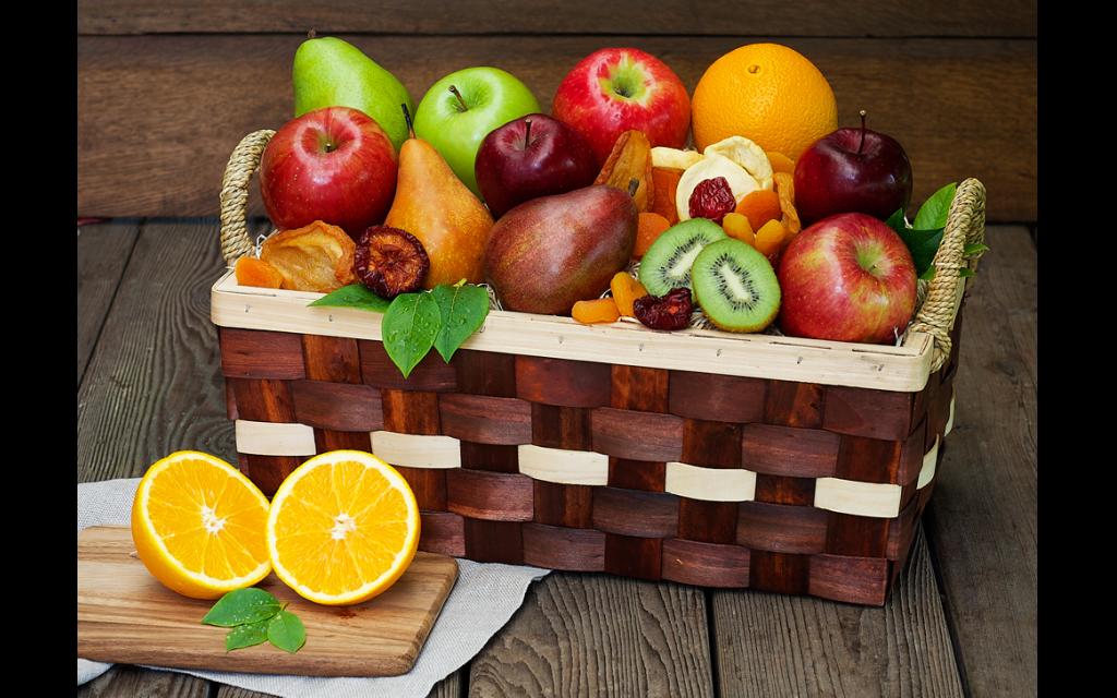 Photo courtesy of The Fruit Company // This gorgeous keepsake basket is expertly arranged with the freshest orchard-picked fruit.