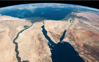 Julian Herzog/NASA // A view of the Middle East from the International Space Station.