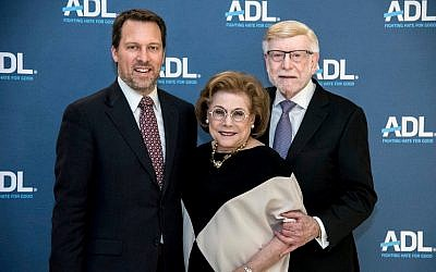 Doug Shipman, Judith and Mark Taylor were honored by the ADL last week.