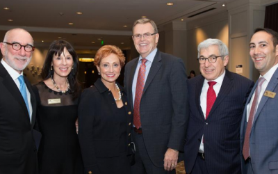 From left: Allan Nelkin; Melanie Nelkin, president of AJC Atlanta; Sherry Abney; David Abney, AJC National Human Relations Award 2018 honoree; Stanley Bergman, past national president of AJC; and Dov Wilker, regional executive director of AJC Atlanta.