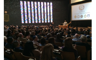 Congregation Shearith Israel hosted a capacity crowd for the community seminar on how to deal with violent attacks on places of worship.