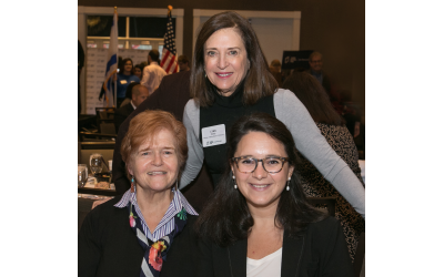 Photos by Jon Marks // Dr. Deborah Lipstadt (left), Lynn Oves, event chair (top), and Bari Weiss, keynote speaker.