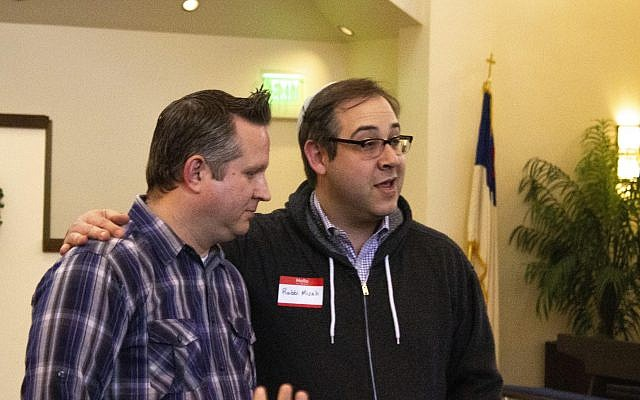Rev. Bruce Wilkes (left) and Rabbi Micah Lapidus talked about why unity between the faiths is now more important than ever.