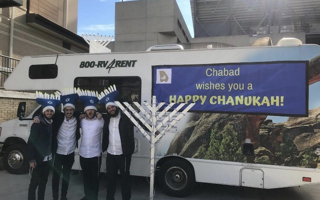 The Chanukah Mitzvah Tank makes its way around the state.