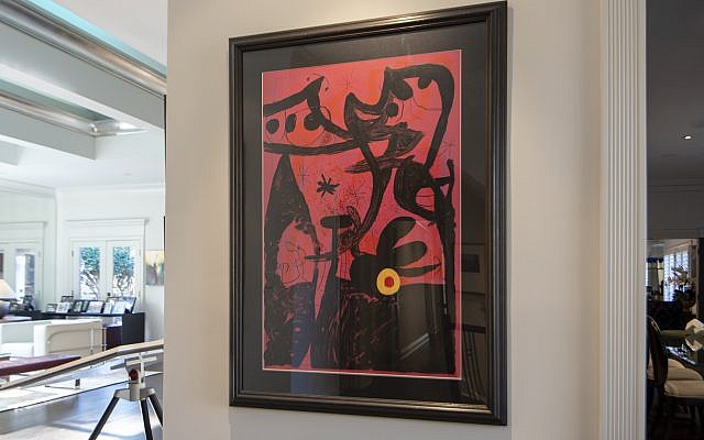 "Linda's mother owned this original Miro block print ""Untitled."""