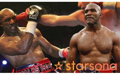 Former professional boxer Evander Holyfield, one of the celebrities available on Starsona.