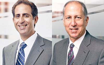 "Lawrence H. ""Larry"" Freiman (left) and Roger A. Kirschenbaum"
