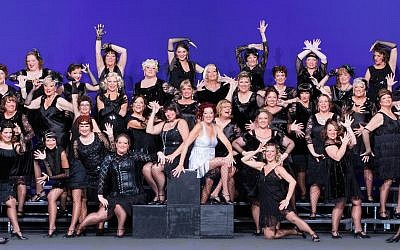 "The show chorus was all in black while performing ""Chicago the Musical"" for the Sweet Adelines International Competition in Las Vegas, Nev. in October 2016."