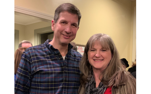 Cobb County residents Philip and Elise Goldstein were particularly moved by a Yiddish concert in the Marietta Square, where Philip's family owned a general store.