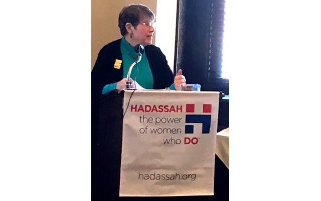 Dr. Rachel Schonberger addresses the audience.
