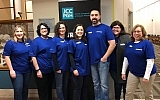Valerie Chambers, fourth from left, represented the MJCCA among other JResponders helping at the Pittsburgh JCC.