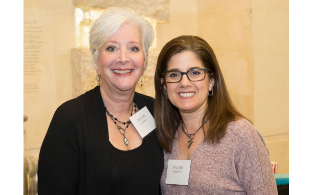 Jewish Abilities Alliance committee members Sheryl Arno and Gayle Siegel.