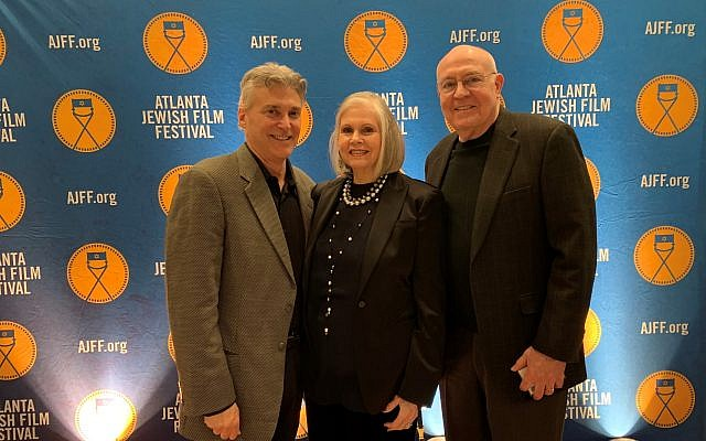 Matthew Bernstein, chair of Emory's Film & Media Studies department, with Opening Night Chair Martha Jo and Jerry Katz.
