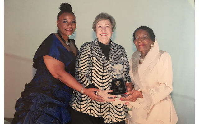 Sherry Frank, middle, with Bernice King and Christine King Farris.