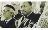 Dr. King with Rabbi Abraham Joshua Heshel at Arlington National Cemetery, Feb. 6, 1968.