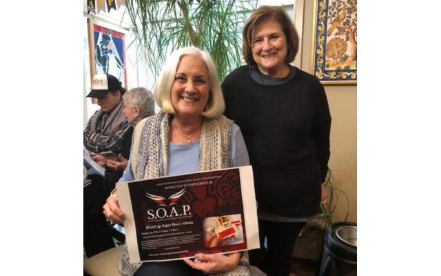 Linda Bressler and Margie Eden, S.O.A.P. co-chairs, are striving to reduce and hopefully eliminate child sex trafficking in Atlanta .