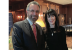Guest speaker Rabbi David Rosen, AJC international director of interreligous affairs, with Melanie Nelkin, president of AJC Atlanta.