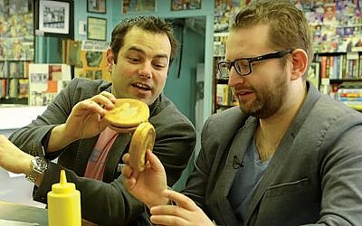 """Eli Batalion and Jamie Elman explore the Jewish food delights of their native Montreal in """"Chewdaism."""""""