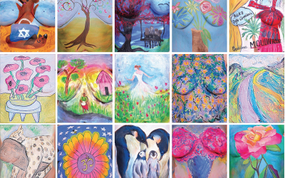 Each Best Strokes painting is a personal story of surviving and thriving beyond cancer.