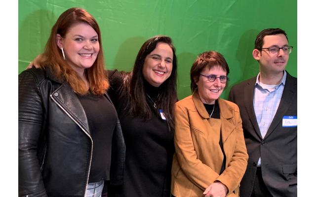 Diamond sponsor Jen Lazarus poses with organizer Cheryl Dorchinsky, Kay Wilson and Beth Jacob Executive Director Rabbi Yitzchok Tendler.