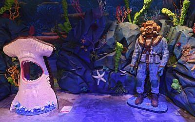 Underwater scene from the Candytopia installation in Atlanta.