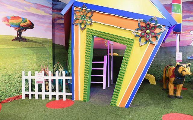 The sideways door is the gateway to a slide.