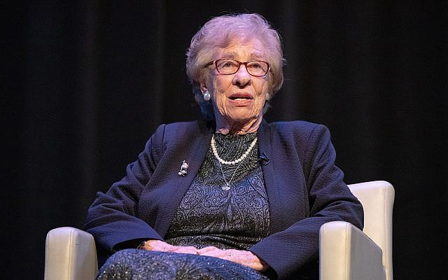 Eva Schloss speaks to a packed house at Georgia Tech.