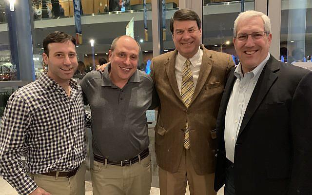 From left: Steve Keilin, Jason Smith, Mayor Rusty Paul and City Councilman Andy Bauman enjoy the acoustics at the venue.