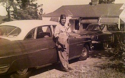 Grandfather Joseph Tarlowski in La Grange, circa 1940, proudly wearing his shriners hat.