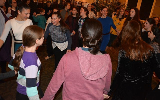 The evening included group dancing.