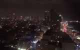 @IDF //  A still from a video showing the Tel Aviv skyline as rocket sirens go off throughout the city on March 14.