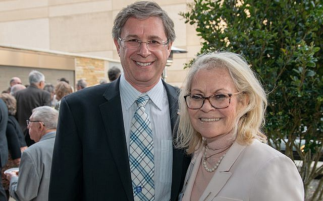 Michael Morris with Ambassador Judith Shorer.