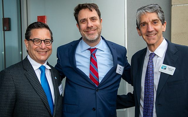 From left: Ken Goldberg, Rabbi Peter Berg and Brad Young.