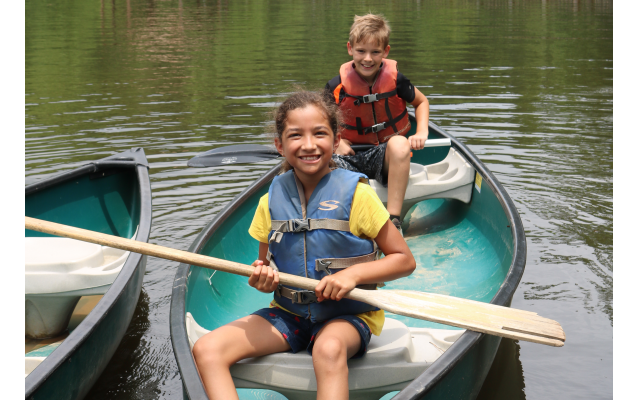 Water sports such as canoeing and rowing are among the fun activities campers can choose.