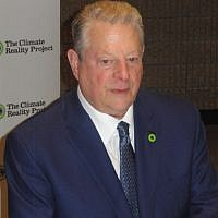 Former U.S. Vice President Al Gore speaks with journalists March 14 in Atlanta about climate change.