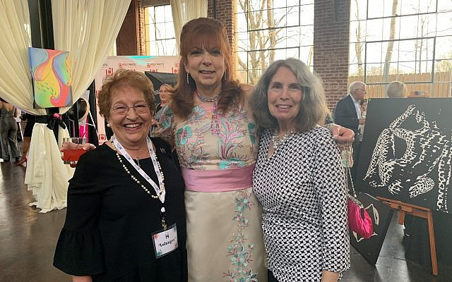 Joan Solomon, Hadassah publicity chair, poses with event co-chair Debra Sharker and Phyllis Cohen of the steering committee.
