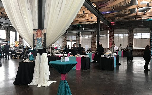 The Foundry At Puritan Mill was a spacious backdrop for vegetarian stations by Affairs to Remember and a lively auction and fundraising challenge.