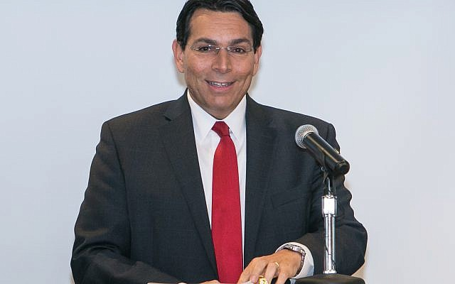The Keynote speaker is Israel's U.N. Ambassador Danny Danon.