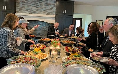 The event was catered by A Kosher Touch.