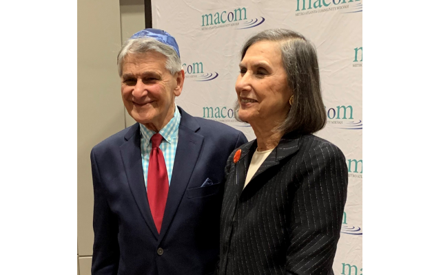 AA nominee Alan Wexler is congratulated by his sister Marlene Perlman.