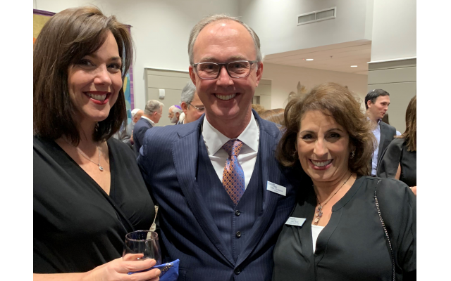 Honoree Jess Goldberg (left) with MACoM President John Thompson and MACoM VP Leah Blum spoke sentimentally about their involvement in the project.