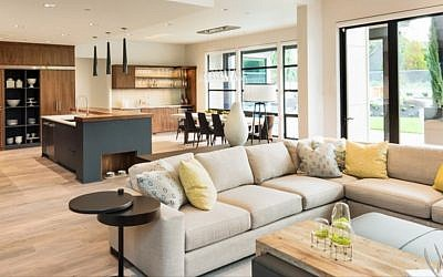 Photo courtesy of Amy Barocas // A modern home featuring a fashionable open design.