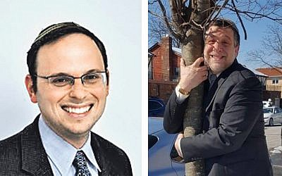 Rabbi Adam Starr of Young Israel of Toco Hills  (left) and #treehugger Rabbi Barry Kornblau of the Young Israel Congregation of Hollis Hills-Windsor Park in Queens, N.Y.