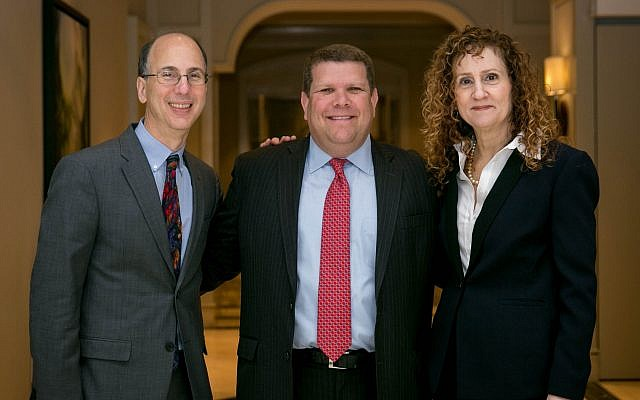 Jeff Alperin, Michael Levy and Faye Dresner are among the JF&CS leaders at the event.