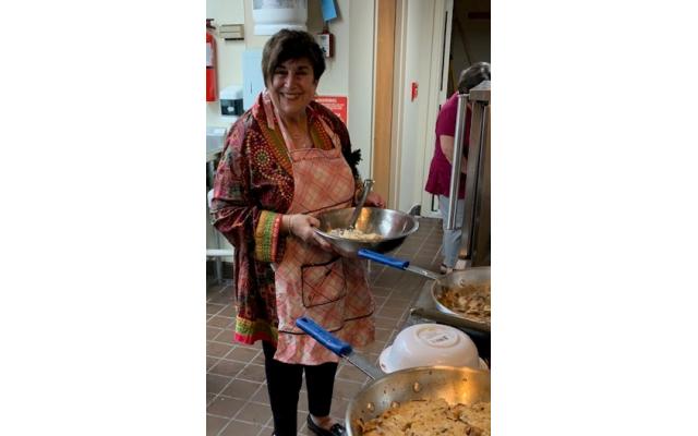 Photos by Delores Restivo Lazerson // Iris Bachenheimer re-creates her husband's recipe to later win the contest.
