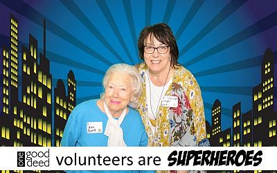 Carolyn Unger (right), and Ann Barr pictured here at One Good Deed's Volunteer Appreciation event on April 14.
