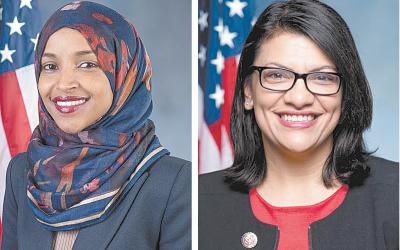 Congresswomen Ilhan Omar (left) and Rashida Tlaib.
